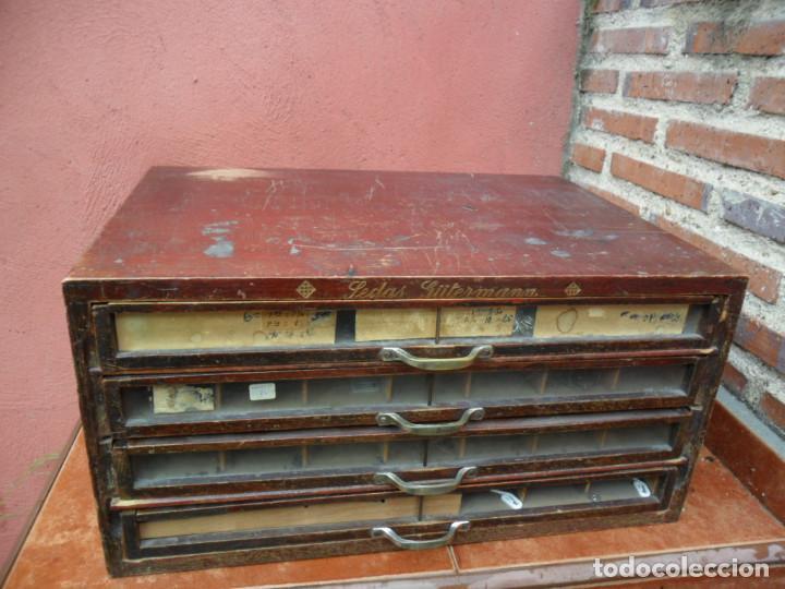 Antigüedades: CAJONERA - ARCHIVADOR - DE MERCERIA - DE LA CASA SEDAS GÜTERMANN - ANTIGUO - Foto 3 - 158580605