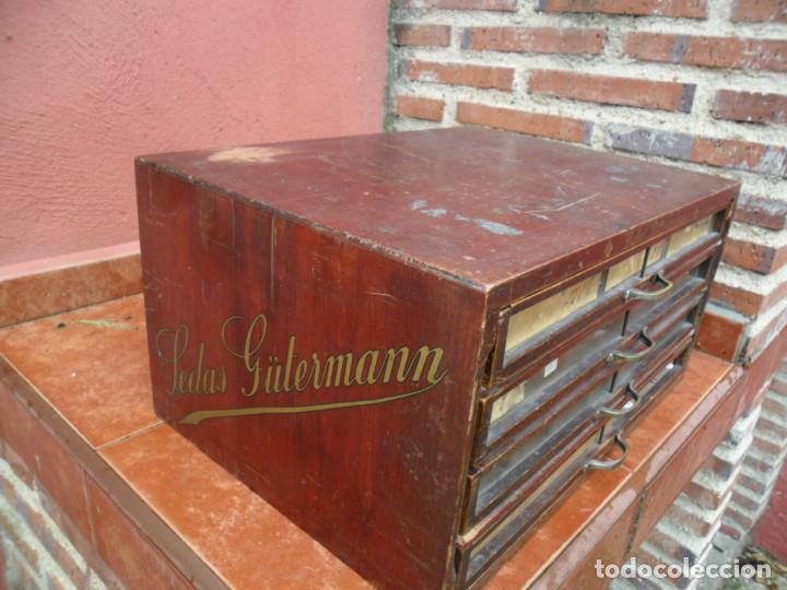 Antigüedades: CAJONERA - ARCHIVADOR - DE MERCERIA - DE LA CASA SEDAS GÜTERMANN - ANTIGUO - Foto 4 - 158580605