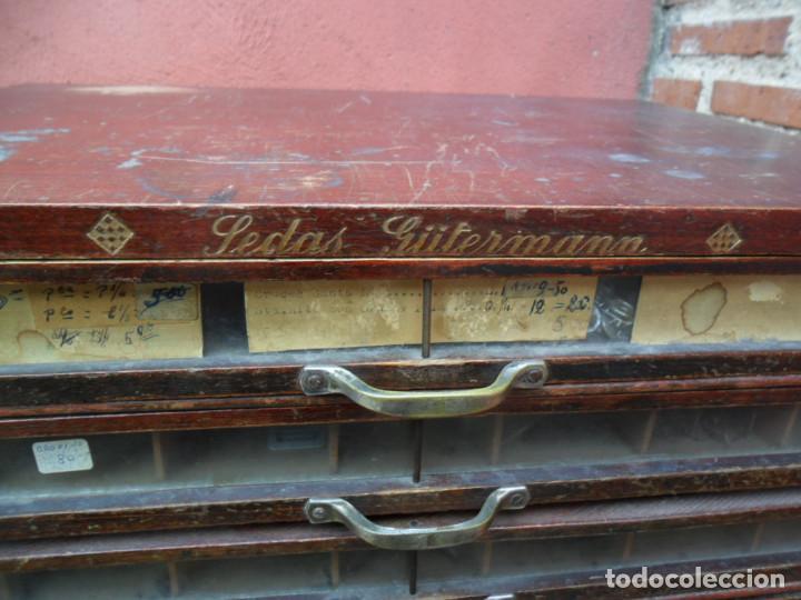 Antigüedades: CAJONERA - ARCHIVADOR - DE MERCERIA - DE LA CASA SEDAS GÜTERMANN - ANTIGUO - Foto 5 - 158580605