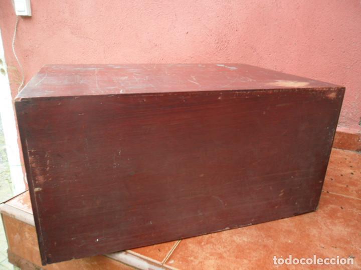Antigüedades: CAJONERA - ARCHIVADOR - DE MERCERIA - DE LA CASA SEDAS GÜTERMANN - ANTIGUO - Foto 7 - 158580605