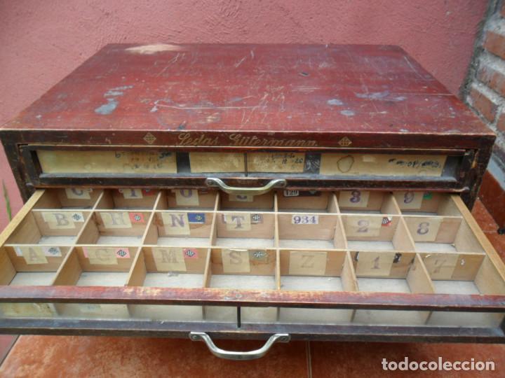 Antigüedades: CAJONERA - ARCHIVADOR - DE MERCERIA - DE LA CASA SEDAS GÜTERMANN - ANTIGUO - Foto 8 - 158580605