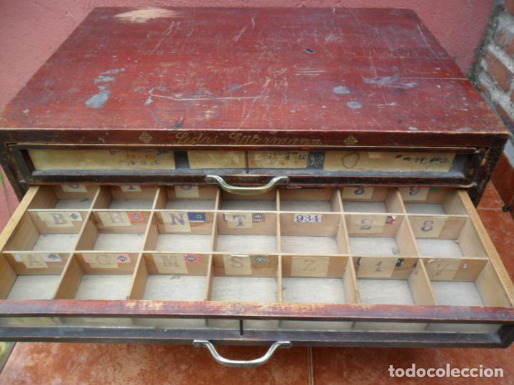 Antigüedades: CAJONERA - ARCHIVADOR - DE MERCERIA - DE LA CASA SEDAS GÜTERMANN - ANTIGUO - Foto 9 - 158580605