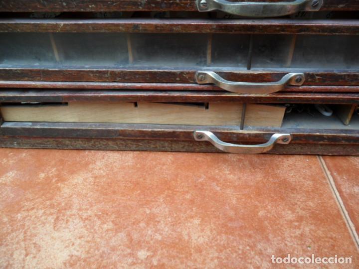Antigüedades: CAJONERA - ARCHIVADOR - DE MERCERIA - DE LA CASA SEDAS GÜTERMANN - ANTIGUO - Foto 11 - 158580605