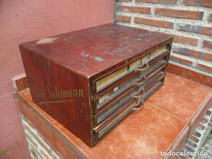 Antigüedades: CAJONERA - ARCHIVADOR - DE MERCERIA - DE LA CASA SEDAS GÜTERMANN - ANTIGUO - Foto 12 - 158580605
