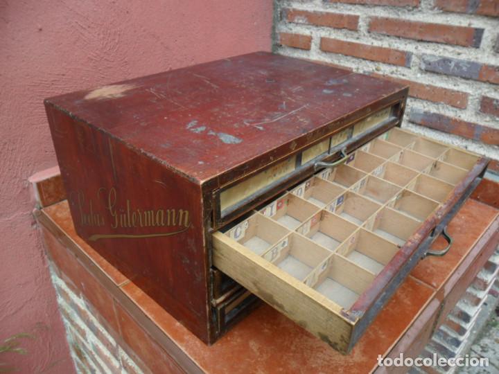 Antigüedades: CAJONERA - ARCHIVADOR - DE MERCERIA - DE LA CASA SEDAS GÜTERMANN - ANTIGUO - Foto 13 - 158580605