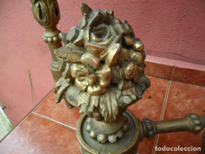 Antigüedades: CONSOLA EN MADERA TALLADA Y ACABADO EN PAN DE ORO SIGLO XVIII - Foto 10 - 87912324