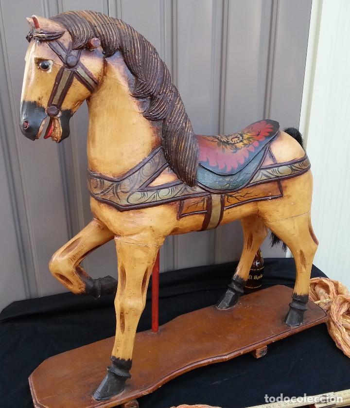 antiguo caballo en madera. perteneciente a viej - Comprar ...