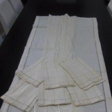 Antigüedades: MANTELERÍA DE HILO CON CALADO EN EL BORDE. Lote 88097180