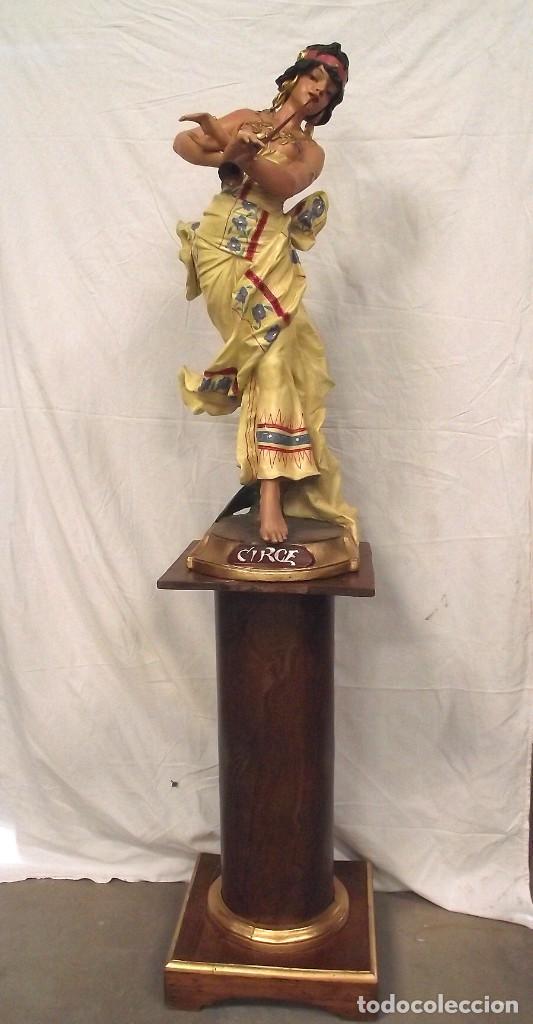 ESCULTURA MODERNISTA DIOSA CIRCE (Antigüedades - Hogar y Decoración - Figuras Antiguas)