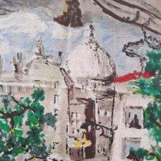 Antigüedades: LOTE DE DOS MARAVILLOSAS CORTINAS HILO GRUESO IMPRESO DE ALBERTO TRON. Lote 88148560