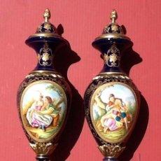 Antigüedades: JARRONES DE PORCELANA. Lote 88151664
