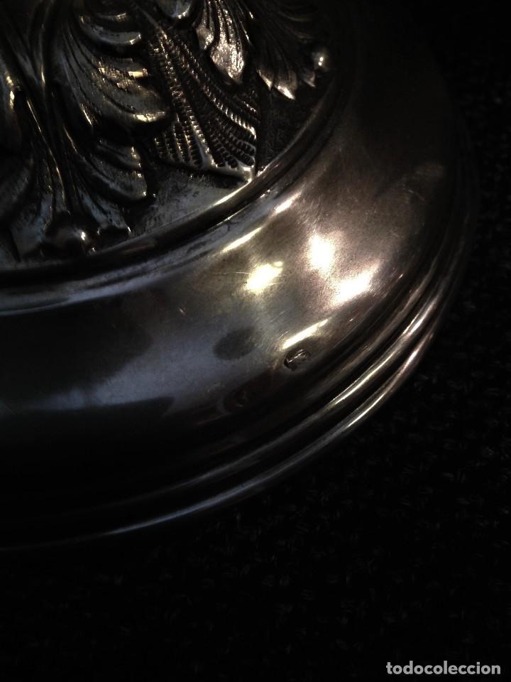 Antigüedades: extraordinaria pareja de candelabros de gala, estilo frances, en plata 925 - Foto 12 - 88158224