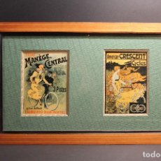 Antigüedades: CUADRO CON PASPARTU DE DOS IMAGENES FRANCESAS. Lote 88162064