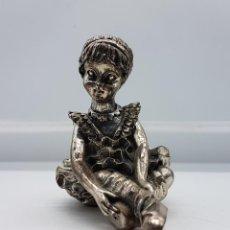 Antigüedades: FIGURA ANTIGUA DE BAILARINA DE BALLET EN PLATA DE LEY LAMINADA .. Lote 88166640