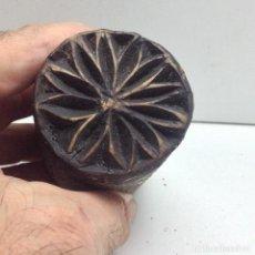 Antigüedades: SELLO DE PAN ARTE POPULAR / 2 PASTORIL, RUSTICO. Lote 88167940