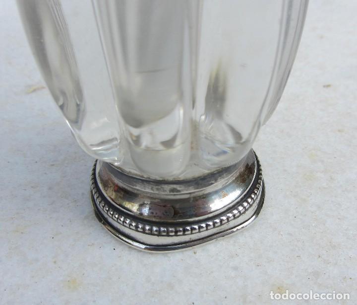 Antigüedades: florero violetero de cristal pie de plata - Foto 3 - 88176884
