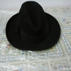 Antigüedades: ANTIGUO SOMBRERO NEGRO DE CABALLERO.. Lote 97374275