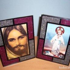 Antigüedades: JESÚS-CUADRO-IMAGEN-FIGURA DE JESÚS-MARÍA-ÁNGEL-MONJA-CRUZ-NAVIDAD-BODA-. Lote 88186400