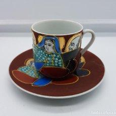 Antigüedades: SERVICIO DE TÉ ANTIGUO EN PORCELANA JAPONESA SATSUMA PINTADA A MANO.. Lote 88285976