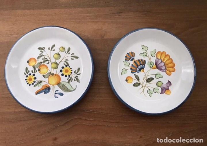 2 PLATOS CERÁMICA ALCORA 1984 (Antigüedades - Porcelanas y Cerámicas - Alcora)
