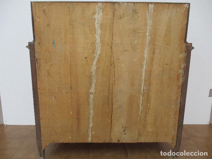 Antigüedades: Antiguo Canterano - Escritorio - Catalán - Carlos IV - Madera de Nogal - Finales S. XVIII - Foto 8 - 88290648