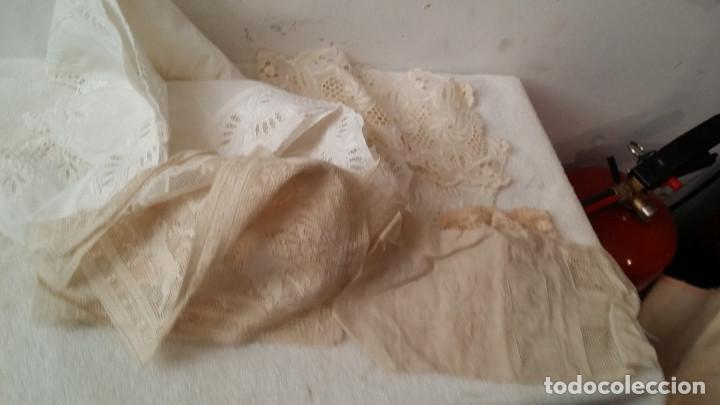 TELAS CON ENCAJES (Antigüedades - Moda - Encajes)