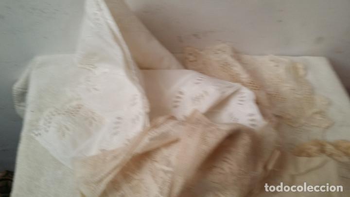Antigüedades: telas con encajes - Foto 2 - 88293048