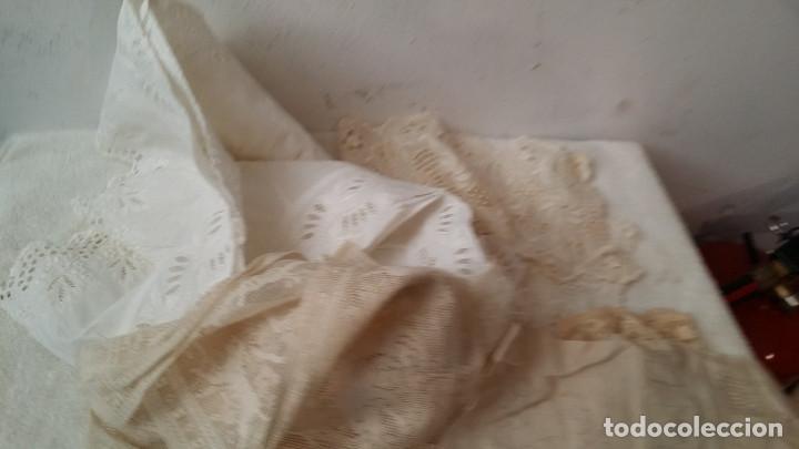 Antigüedades: telas con encajes - Foto 3 - 88293048