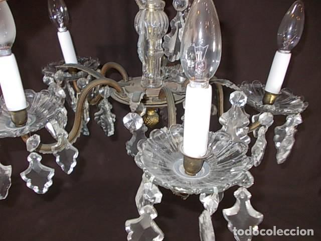 Antigüedades: ANTIGUA LAMPARA DE ARAÑA TODA DE CRISTAL - Foto 5 - 88302124