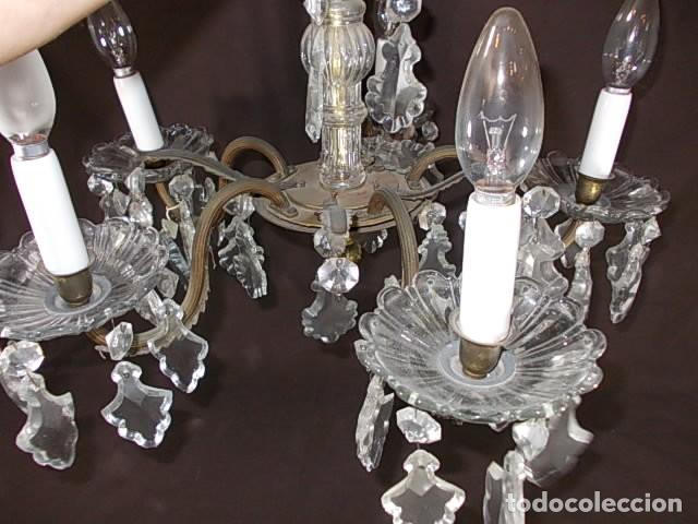 Antigüedades: ANTIGUA LAMPARA DE ARAÑA TODA DE CRISTAL - Foto 6 - 88302124