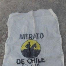Antigüedades: SACO NITRATO DE CHILE ANTIGUO DE 80 KILOS ORIGINAL CON BUENA CONSERVACION . Lote 88305384