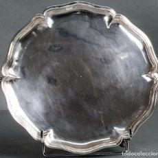 Antigüedades: SALVILLA DE CONTORNOS DE PLATA ESPAÑOLA SIGLO XVIII. Lote 88317052