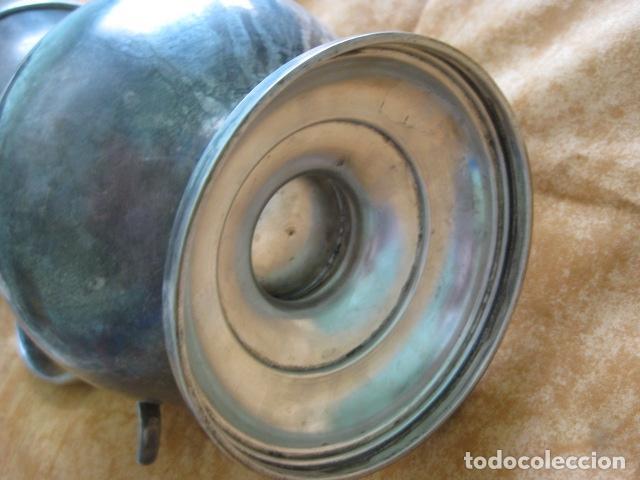 Antigüedades: MUY DECORATIVA Y ANTIGUA JARRA DE PLATA LAMINADA - Foto 3 - 88183156