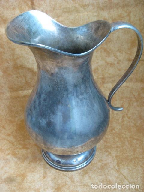 Antigüedades: MUY DECORATIVA Y ANTIGUA JARRA DE PLATA LAMINADA - Foto 6 - 88183156