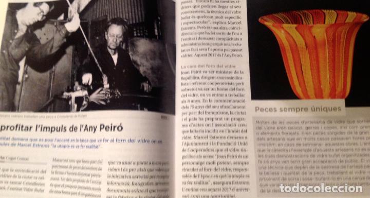Antigüedades: Antiguo y atesanal jarrón pieza de colección del Forn del Vidre de Mataró Año1936 - Foto 2 - 38806496