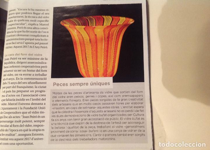 Antigüedades: Antiguo y atesanal jarrón pieza de colección del Forn del Vidre de Mataró Año1936 - Foto 3 - 38806496
