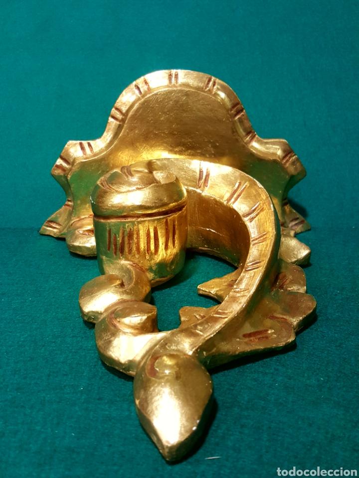 Antigüedades: Ménsula de madera tallada y dorada en oro fino. - Foto 2 - 88344048