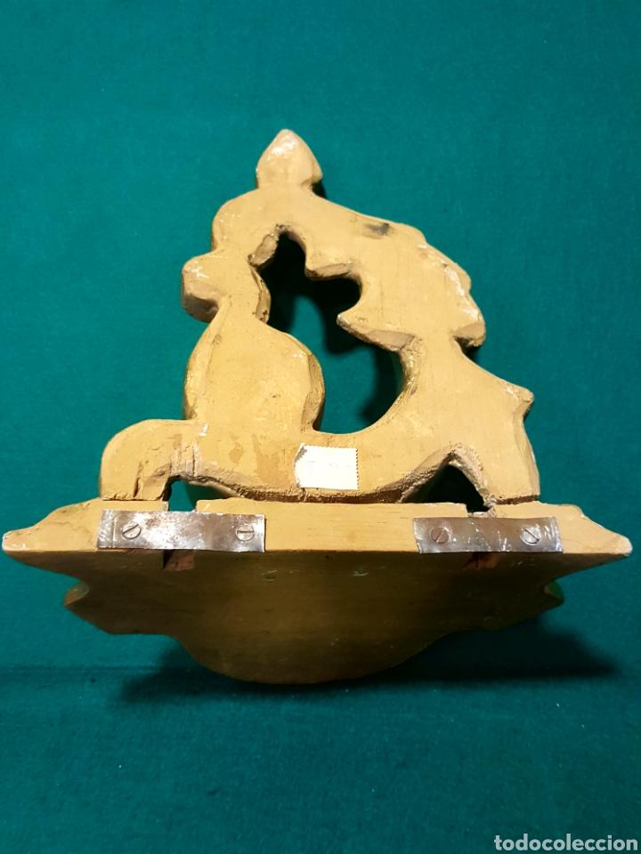 Antigüedades: Ménsula de madera tallada y dorada en oro fino. - Foto 4 - 88344048