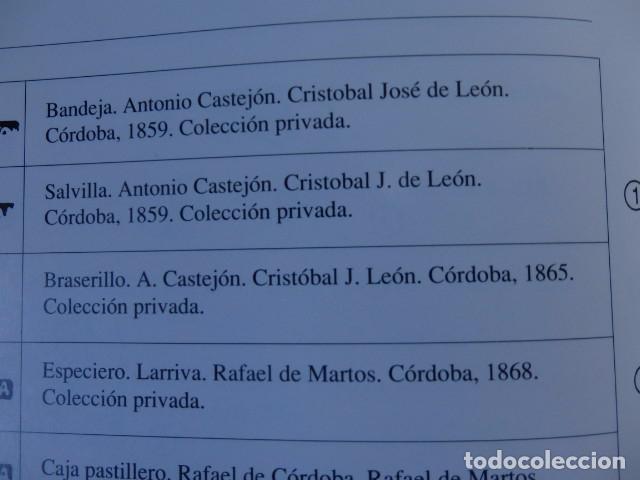 Antigüedades: Bandeja de plata batida con marcas de platero. Córdoba 1859. A. Castejón y J. de León. 42 cm. - Foto 14 - 88360076