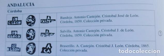 Antigüedades: Bandeja de plata batida con marcas de platero. Córdoba 1859. A. Castejón y J. de León. 42 cm. - Foto 15 - 88360076