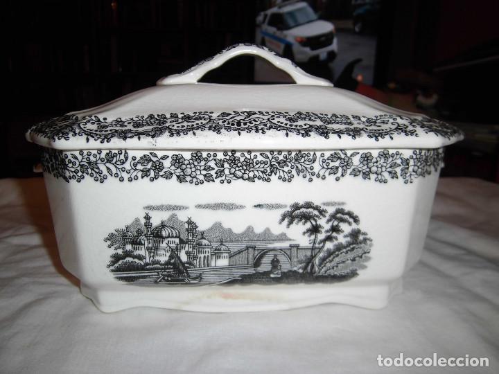 ANTIGUA SOPERA MARCADA EN LA BASE LA CARTUJA DE SEVILLA PICKMAN (Antigüedades - Porcelanas y Cerámicas - La Cartuja Pickman)