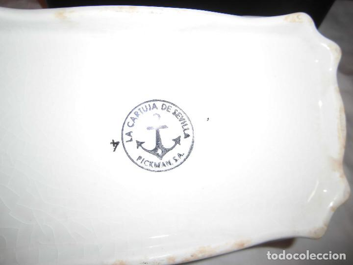 Antigüedades: ANTIGUA SOPERA MARCADA EN LA BASE LA CARTUJA DE SEVILLA PICKMAN - Foto 11 - 88367924