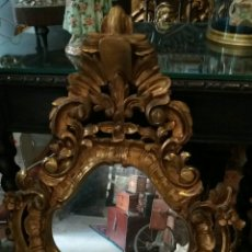 Antigüedades: ANTIGUA CORNICOPIA DE MADERA EN ORO FINO. Lote 88453099