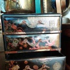 Antigüedades: PRECIOSA CAJA JOYERO LACA CHINA. Lote 88492487