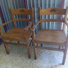Antigüedades - lote 4 unidades silla sillon sofa butaca de madera - 88517700