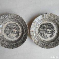 Antigüedades: DOS PLATOS PLANOS MARIANO POLA. Lote 87504064