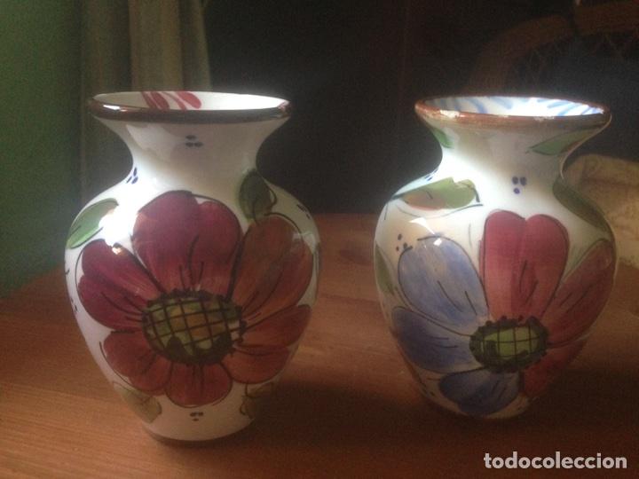 3 JARRONES DE TALAVERA MARCA ENMA (Antigüedades - Porcelanas y Cerámicas - Talavera)