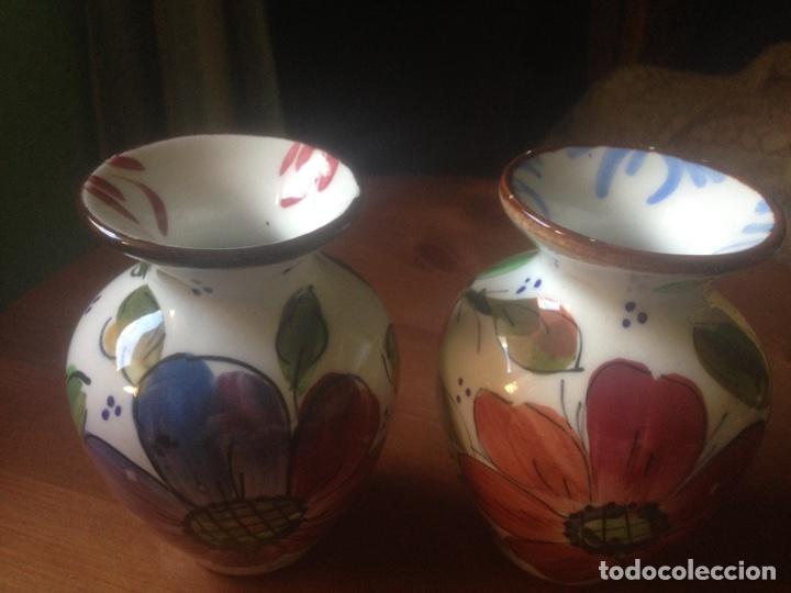 Antigüedades: 3 Jarrones de Talavera marca Enma - Foto 3 - 88572670