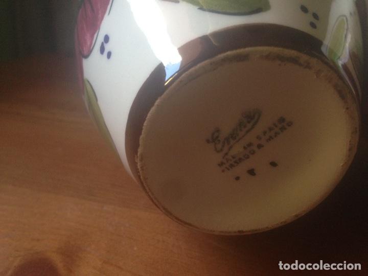Antigüedades: 3 Jarrones de Talavera marca Enma - Foto 5 - 88572670