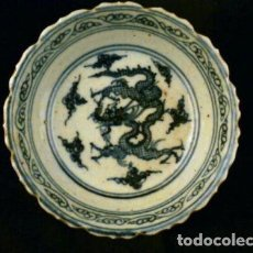 Antigüedades: CHINA , ANTIGUO CUENCO DE PORCELANA BLANCO Y AZUL , 1700-1800. Lote 88599204